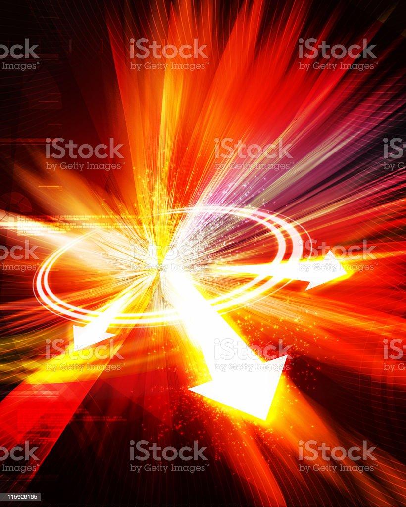 Hot arrows explosion royalty-free stock photo