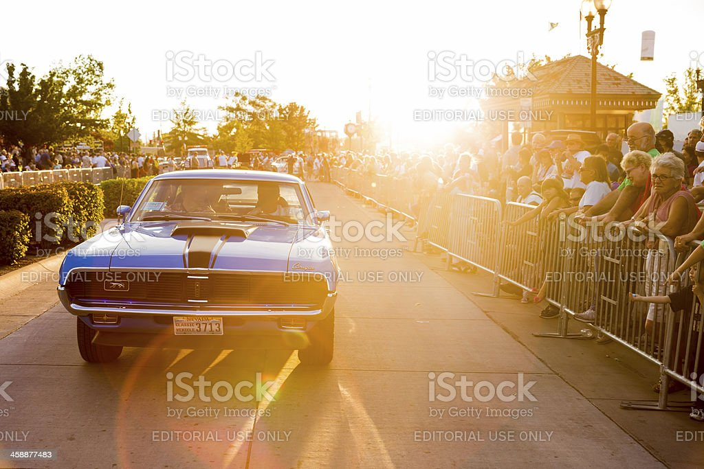 Hot August Nights Cruise in Sparks Nevada royalty-free stock photo