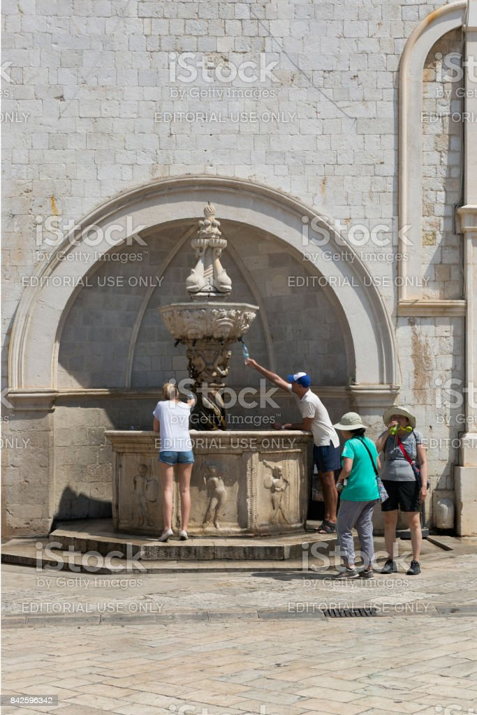 Hot August of 2017 in Dubrovnik, Croatia. stock photo