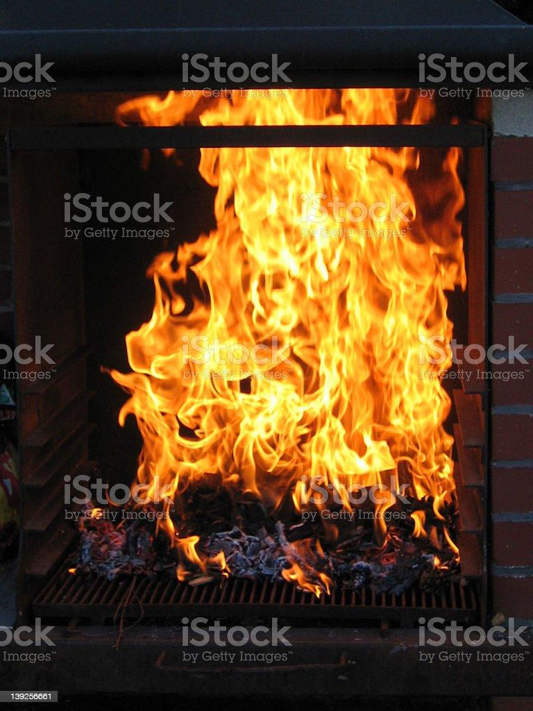 Hot Barbecue stock photo