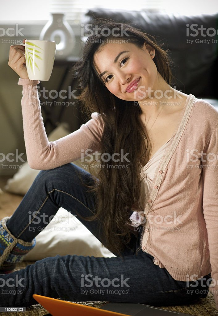 Hot beverage at home royalty-free stock photo