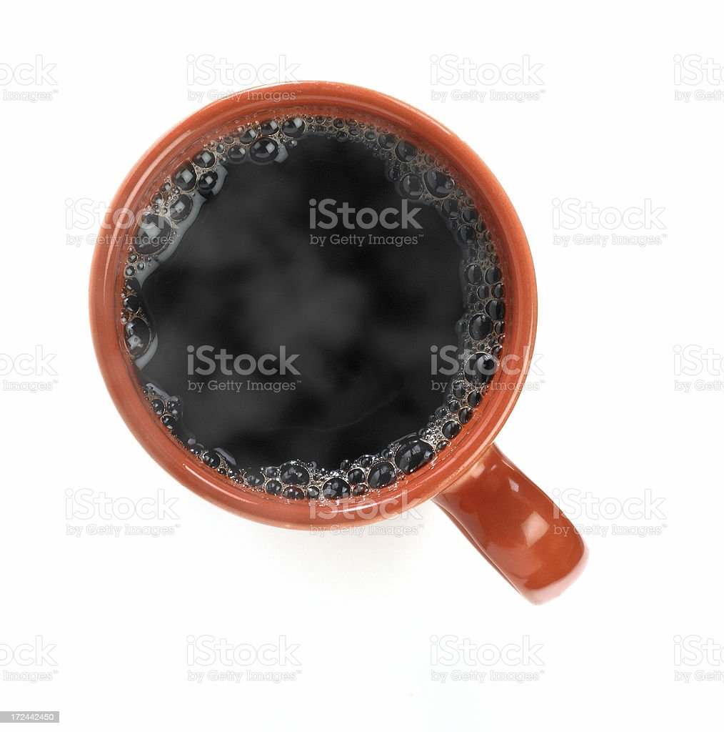 Hot black coffee royalty-free stock photo