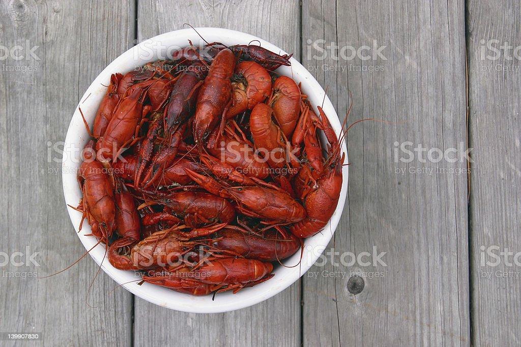 Hot Boiled Crawfish stock photo
