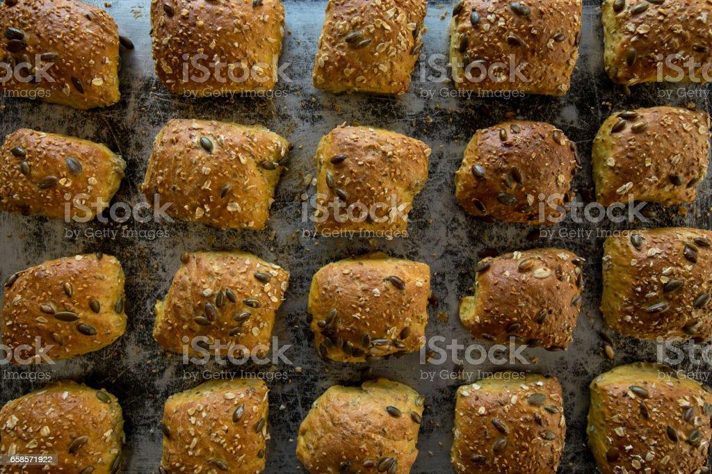 Hot Bread Freshly Baked stock photo