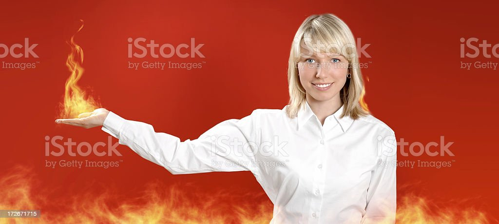 Hot business royalty-free stock photo