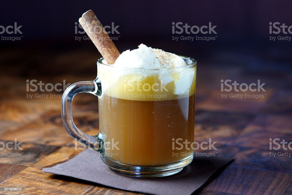 Hot Buttered Rum stock photo
