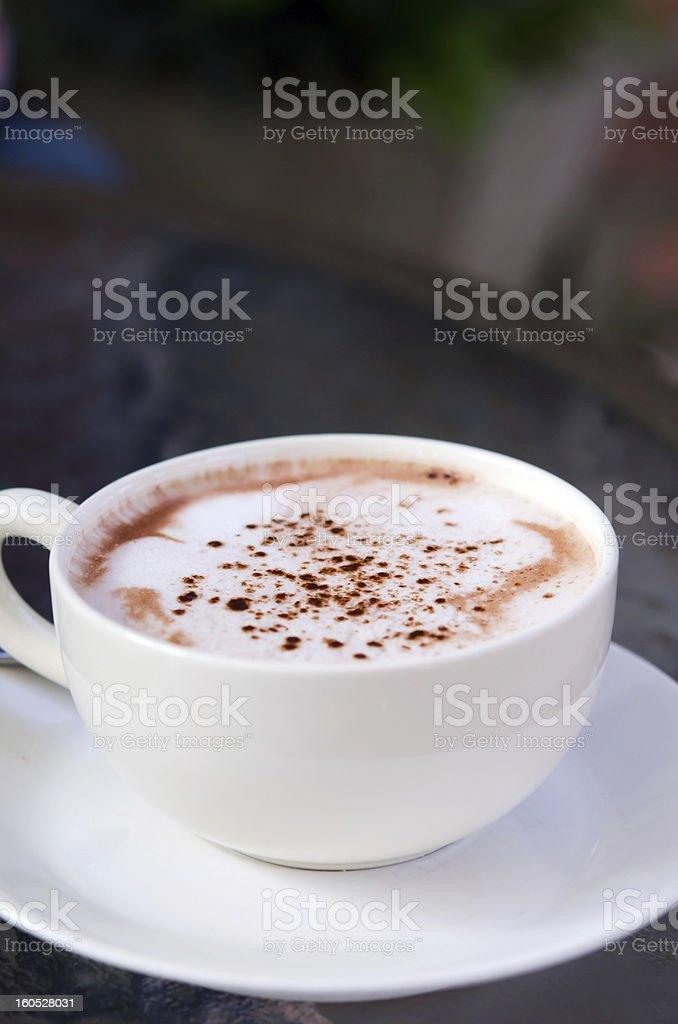 hot cappuccino royalty-free stock photo