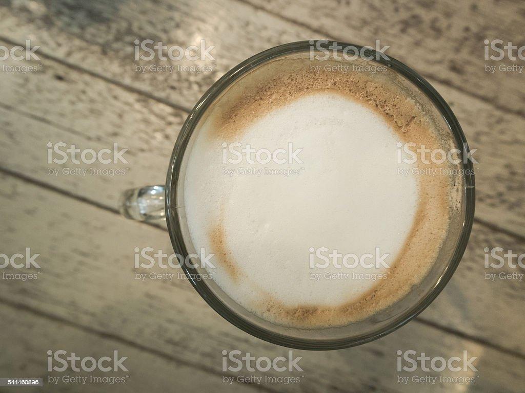 Hot cappuccino. stock photo