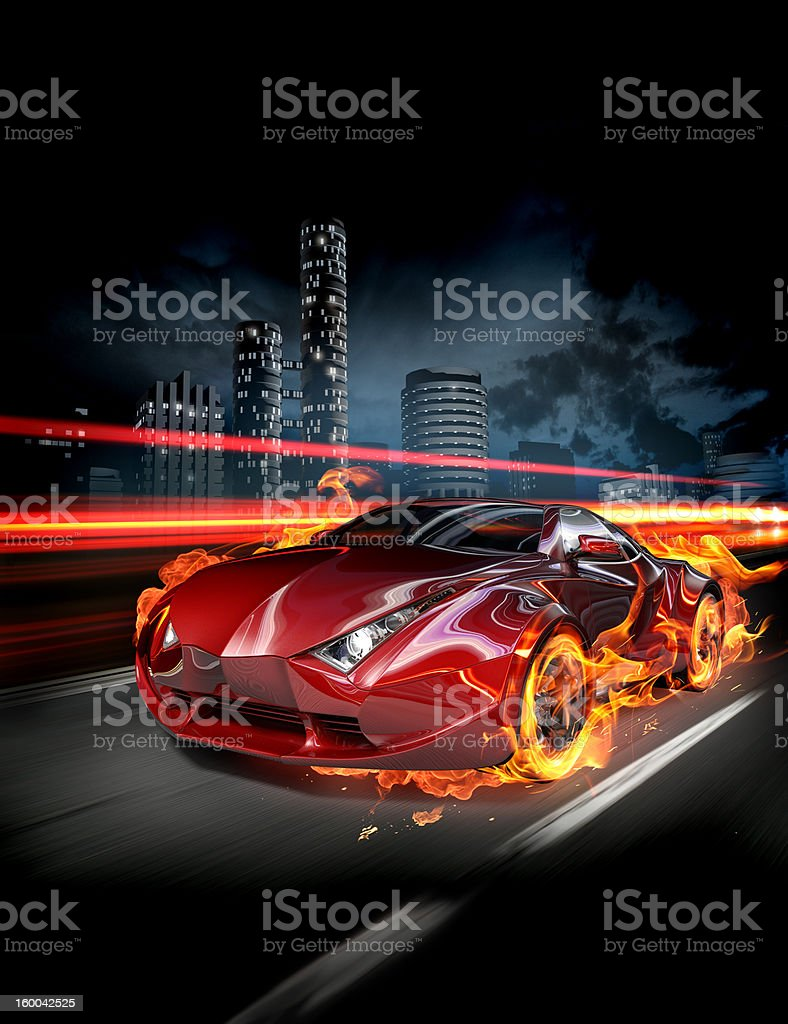 Hot car stock photo