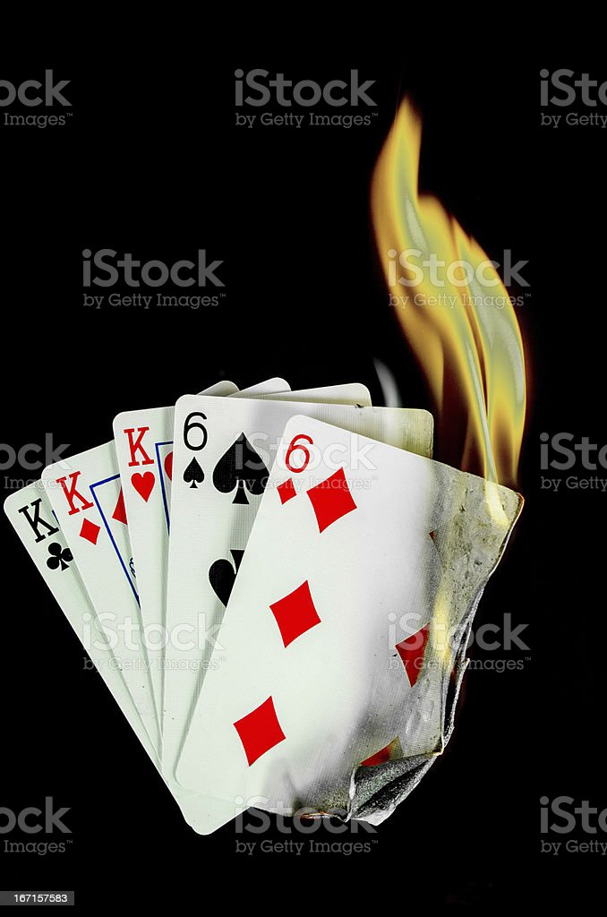 Hot Card Hand... Full House royalty-free stock photo