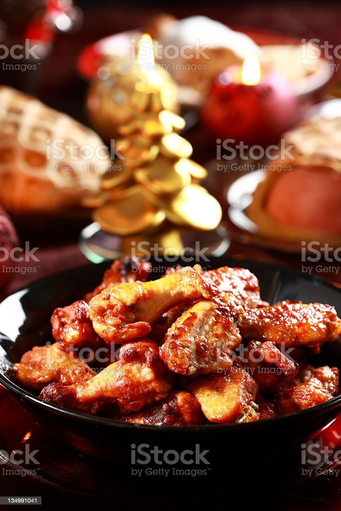 Hot chicken wings royalty-free stock photo