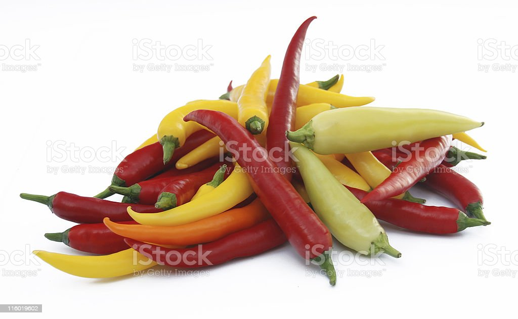 Hot Chili Peppers royalty-free stock photo