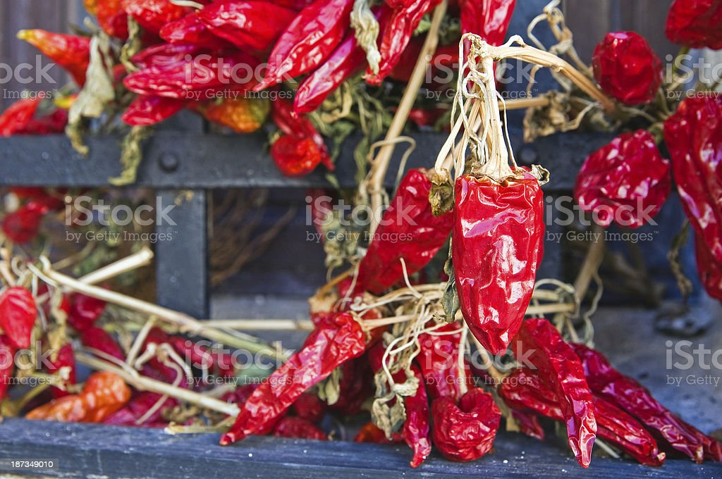 Hot chili peppers. royalty-free stock photo
