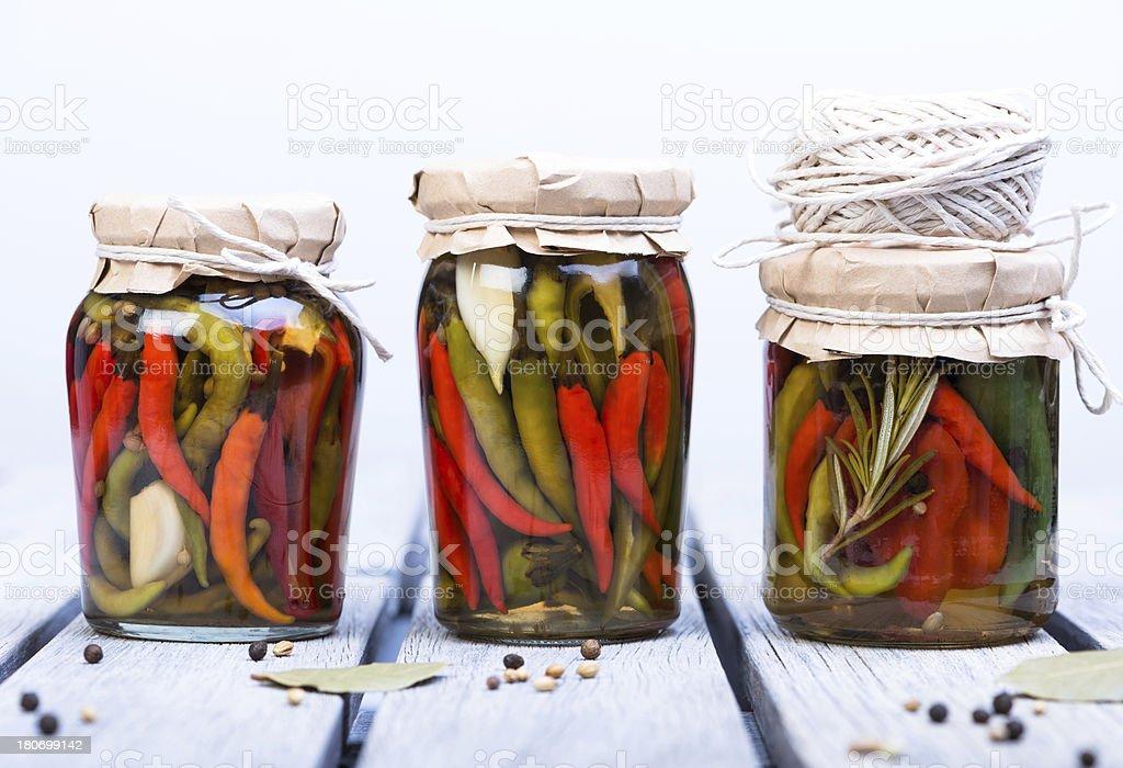 hot chilli pickle stock photo