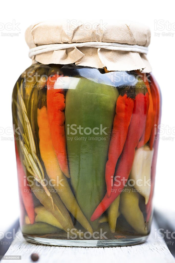 hot chilli pickle royalty-free stock photo