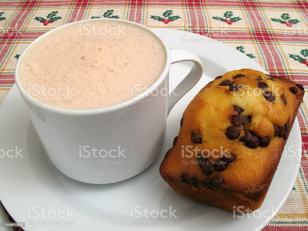 Hot Chocolate and Cake royalty-free stock photo