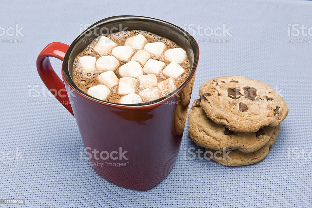 hot chocolate and cookies royalty-free stock photo