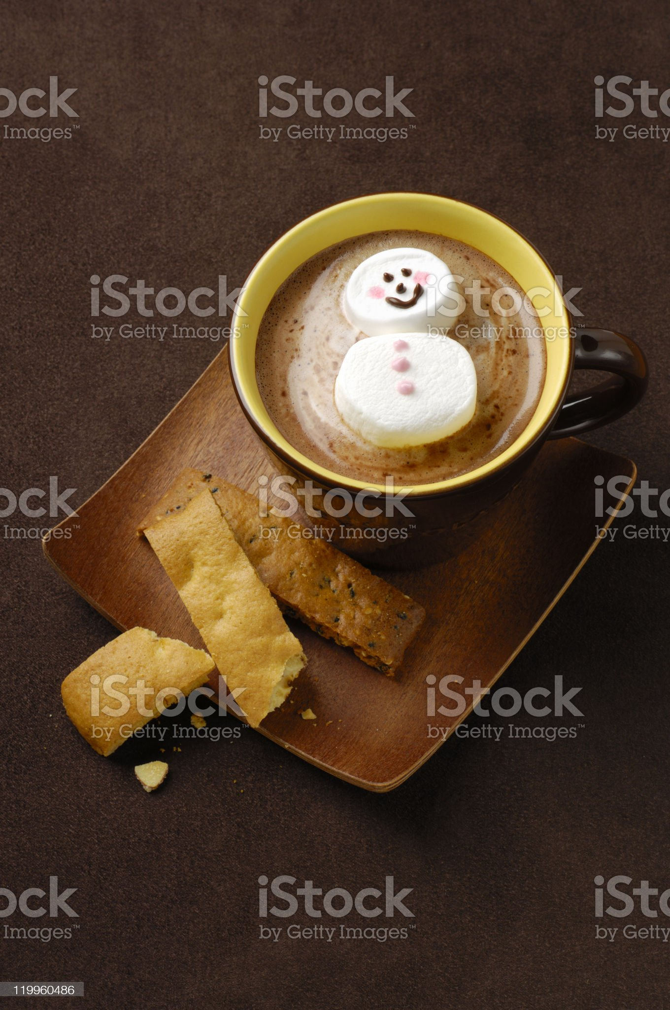 Hot chocolate and Marshmallows royalty-free stock photo