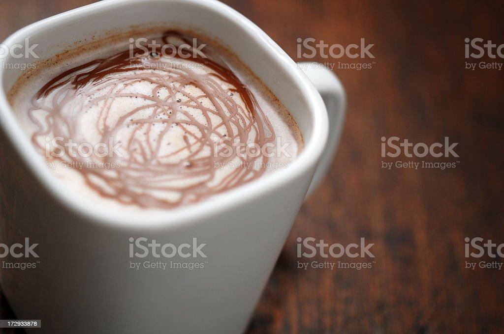 hot chocolate close up royalty-free stock photo