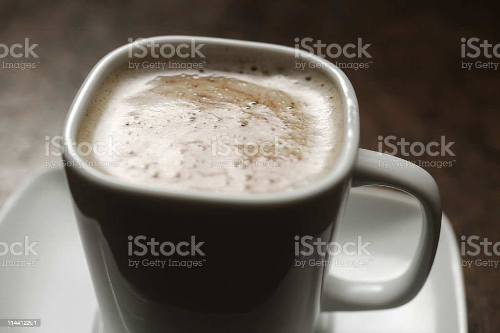 hot chocolate drink backlit stock photo