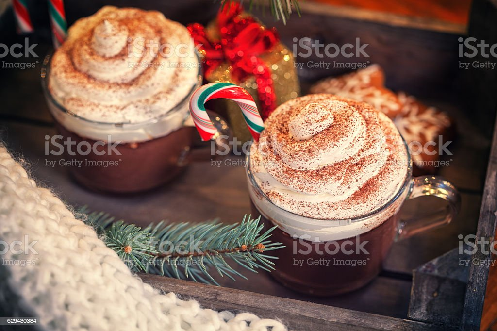 Hot Chocolate for Christmas stock photo