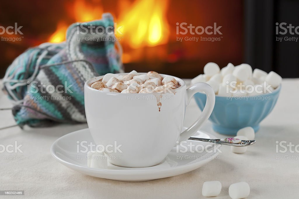 chocolate quente foto royalty-free