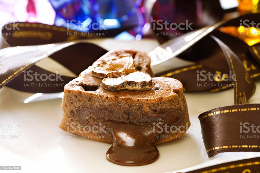 Hot Chocolate Souffle stock photo