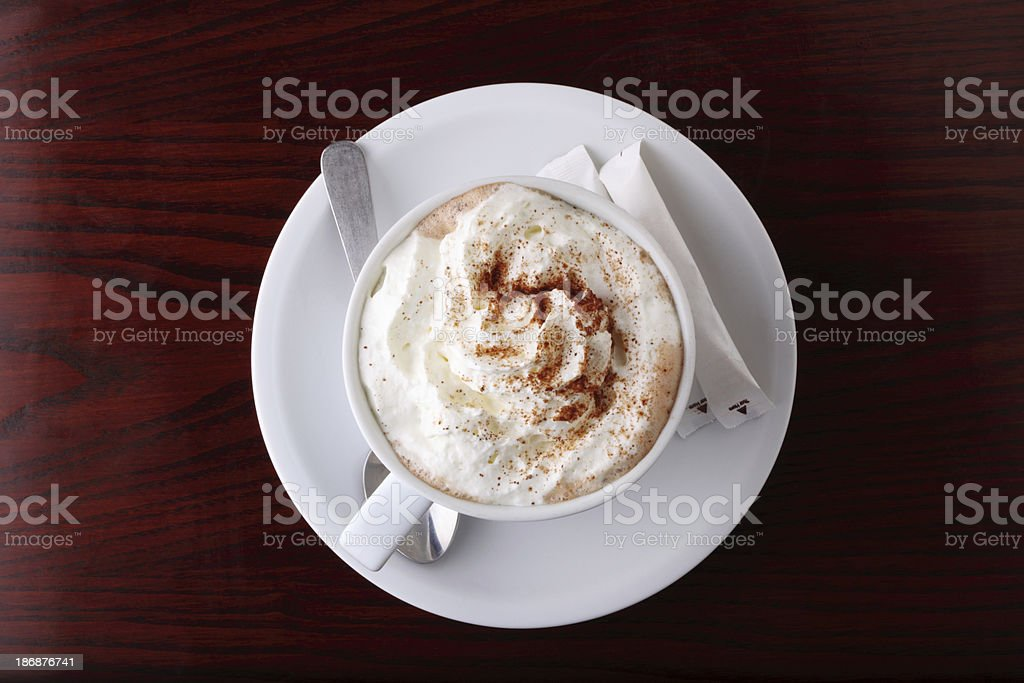Hot Chocolate Top view stock photo