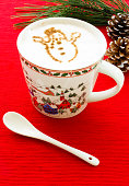 Hot Chocolate with Cinnamon Snowman