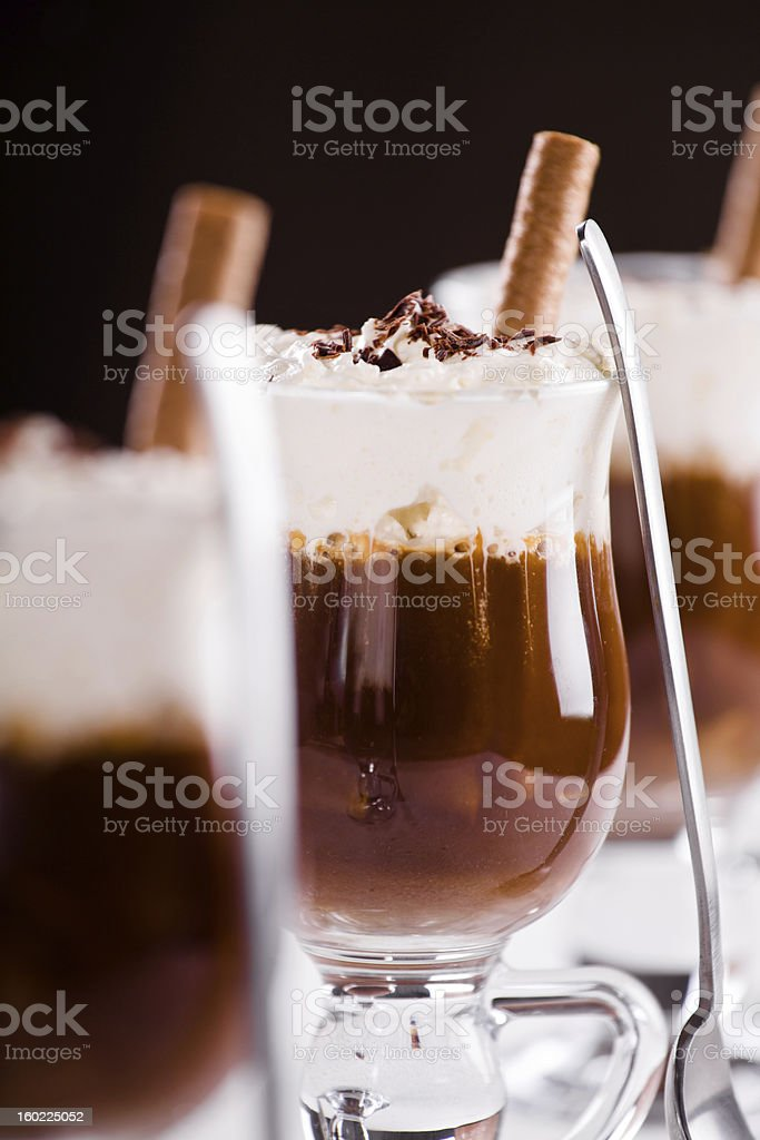 Hot Chocolate With Cream royalty-free stock photo