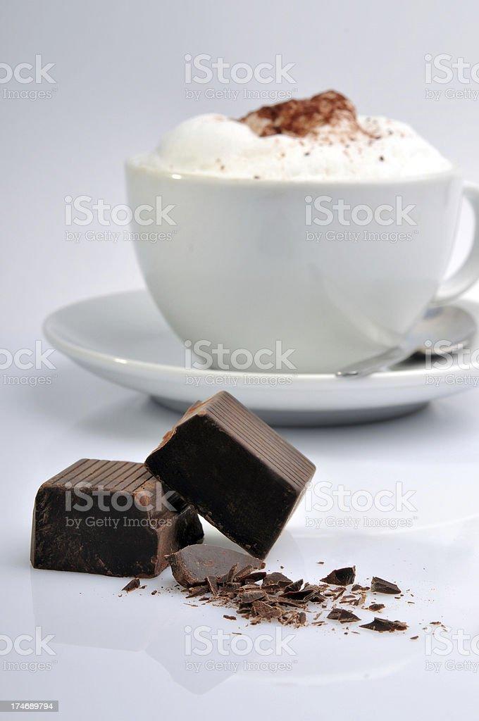 Hot Chocolate with Milk Cream royalty-free stock photo