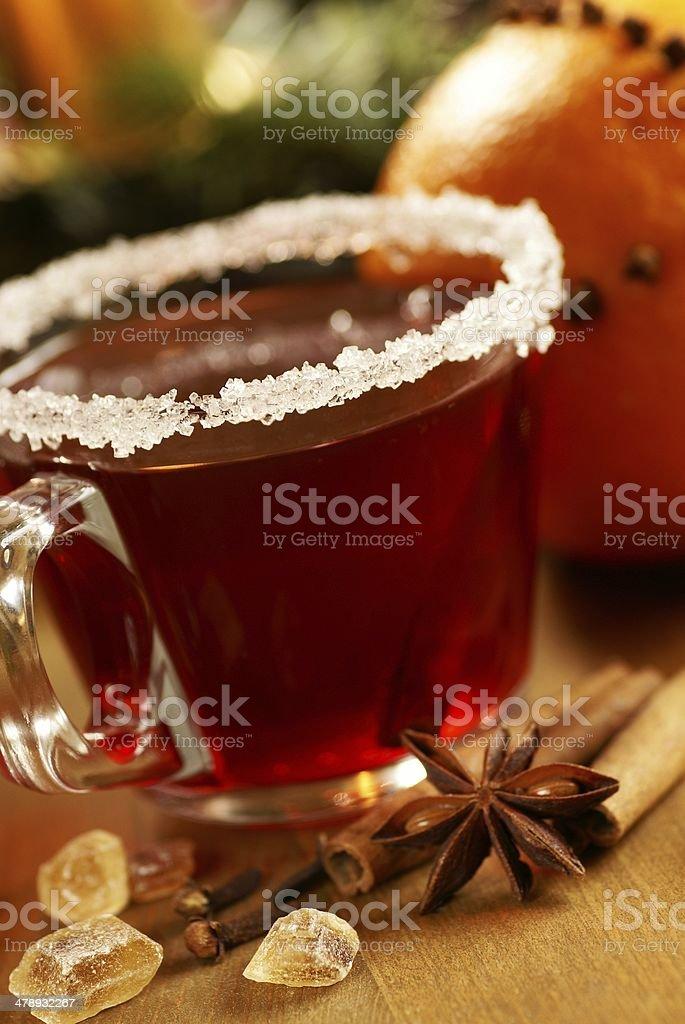 Hot christmas drink stock photo