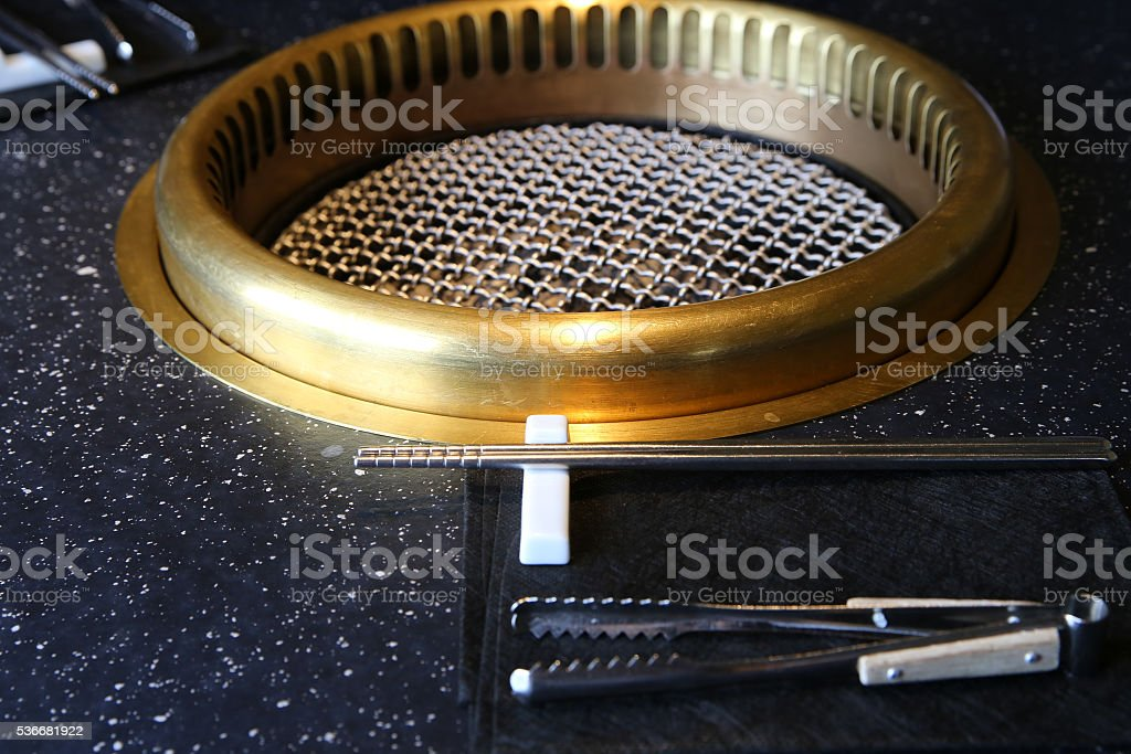 hot coal (YAKINIKU in Japan) stock photo