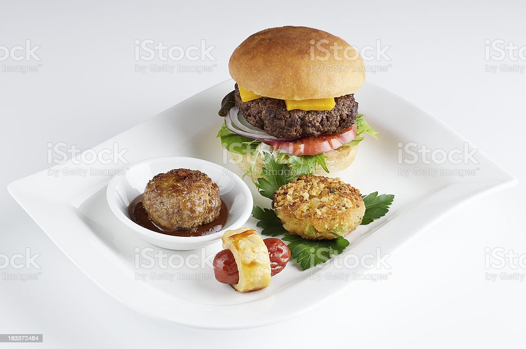 Hot Cocktail Appetizers stock photo