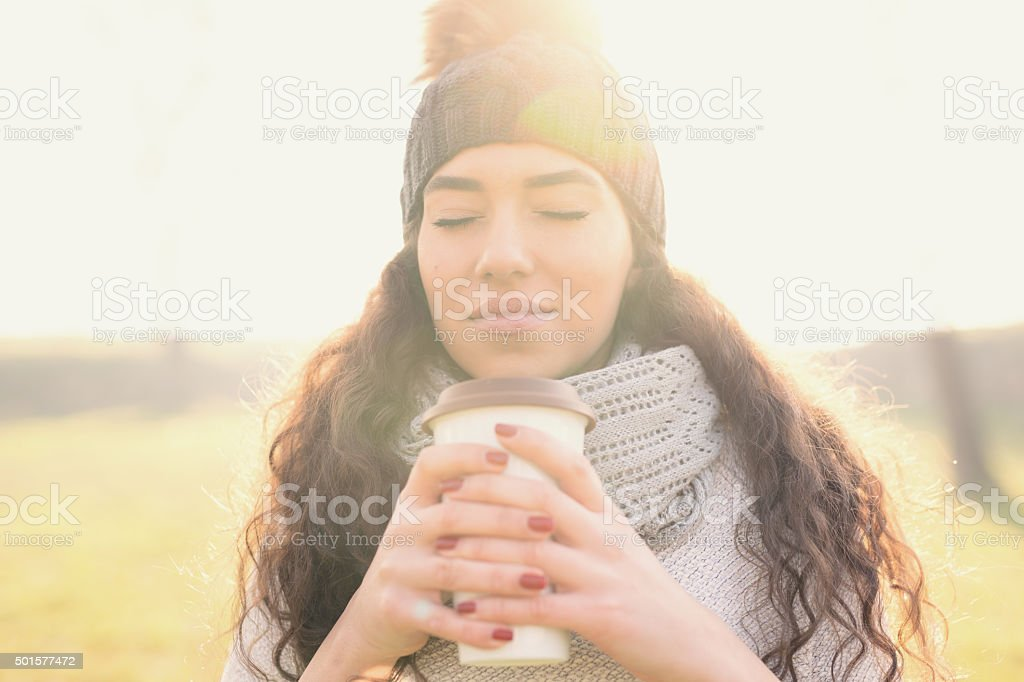 Hot Coffee For A Cold Winter Morning... stock photo