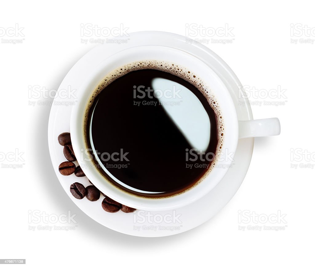 hot coffee isolated clipping path inside stock photo