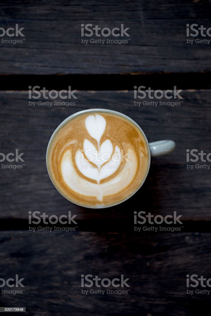 Hot coffee late stock photo