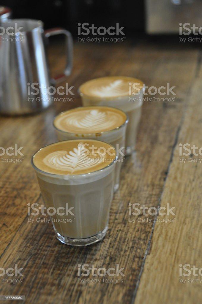 Hot Coffee Latte Art stock photo