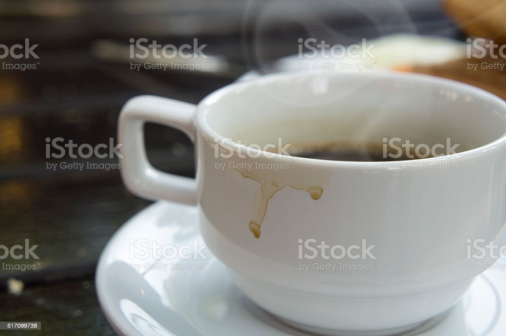 hot coffee stock photo
