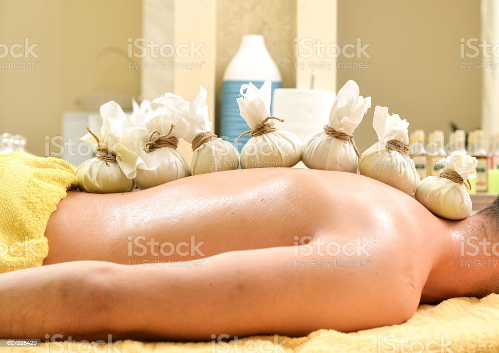 Hot Compress detox Therapy stock photo