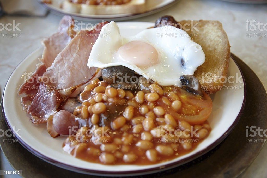 Hot cooked full english breakfast royalty-free stock photo
