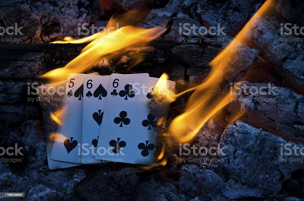 Hot Cribbage Hand royalty-free stock photo
