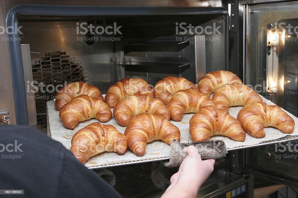 Hot Croissants royalty-free stock photo