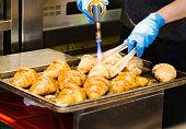 Hot croissants