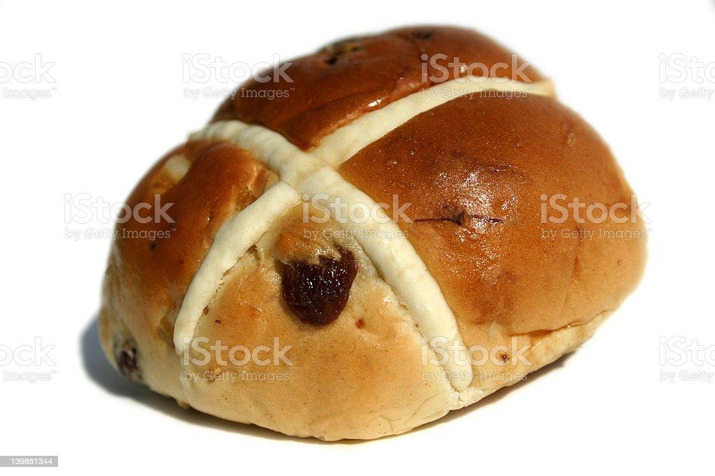 Hot cross bun royalty-free stock photo