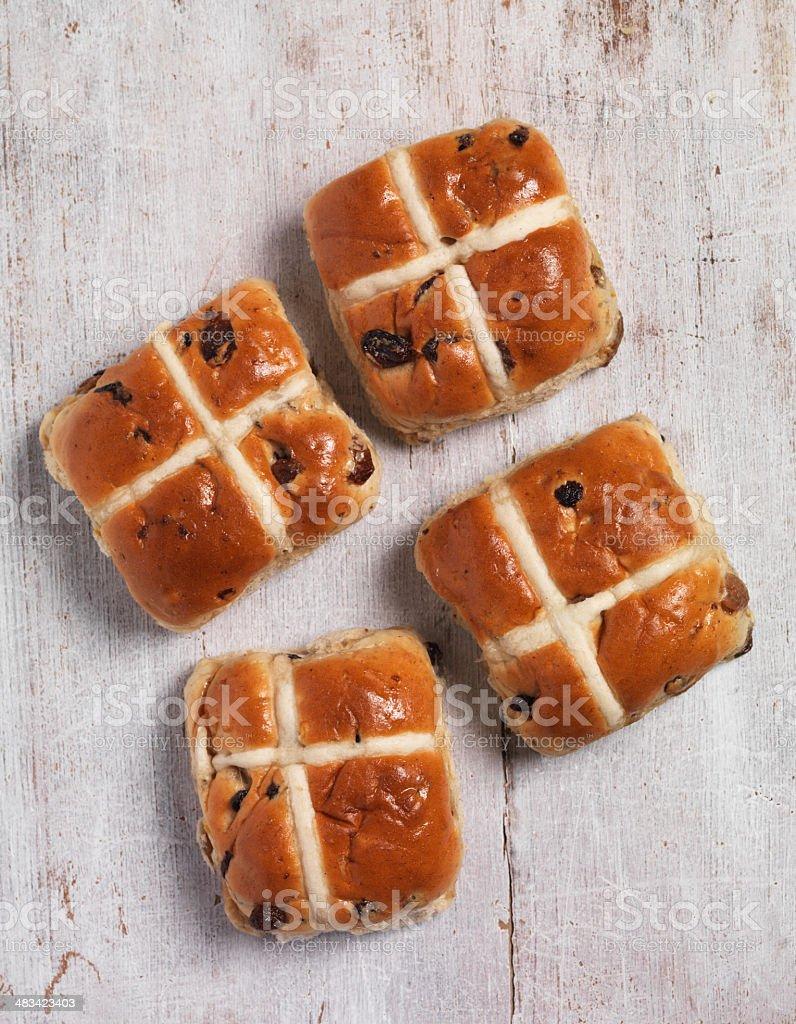 Hot cross bun stock photo