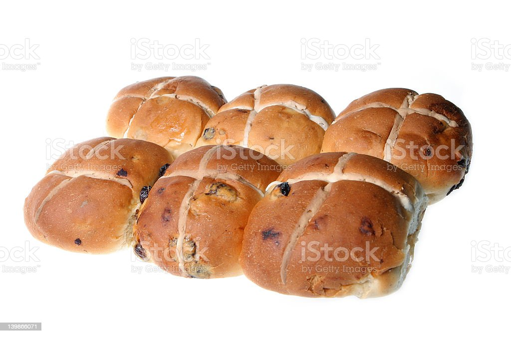 Hot Crossed Buns royalty-free stock photo