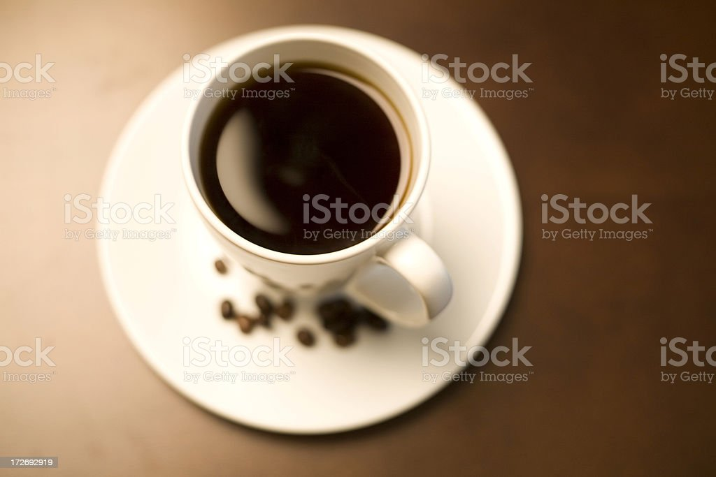 Hot cup of coffee. royalty-free stock photo