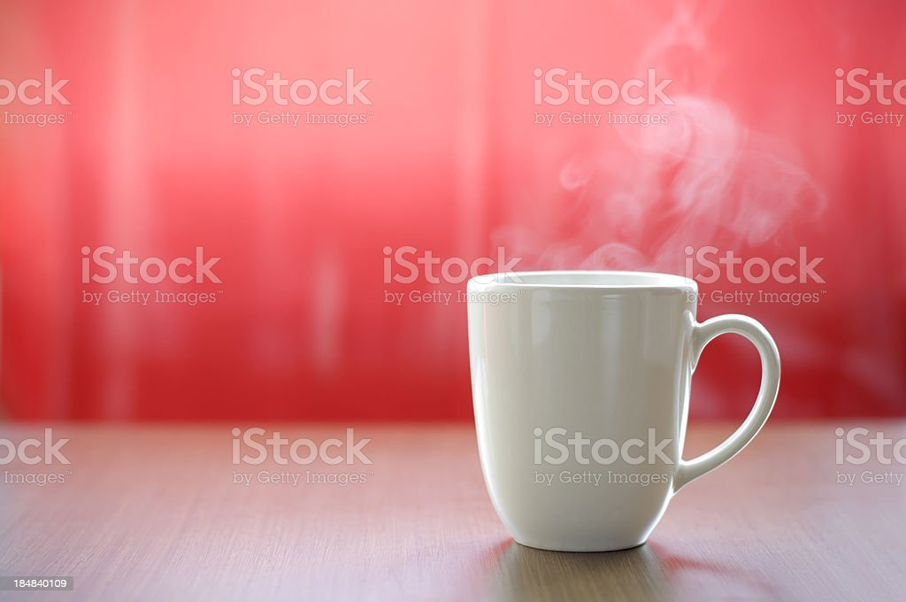 hot cup of coffee stock photo