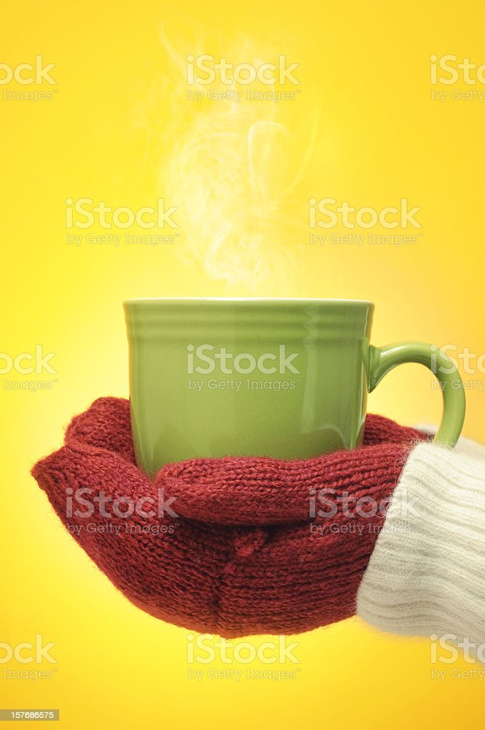 Hot cup of drink royalty-free stock photo